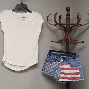 Refuge USA flag shorts with Wrangler Tee